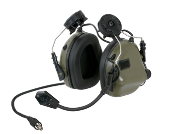 Picture of EARMOR M32H Mod 3 Aktiva Hörselskydd med mikrofon - Foliage Green