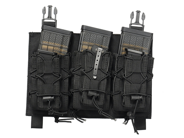 Picture of 8FIELDS Buckle Up Speed Triple Rifle/Pistol Mag Pouch - Black