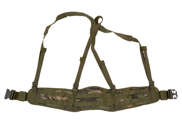 Bild på 8FIELDS Padded Patrol Belt with Suspenders - Multicam Tropic