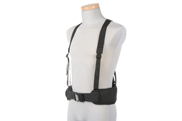 Picture of Belt with X type suspenders - black