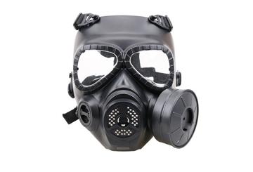 Picture of Sweat prevent mist fan mask - black