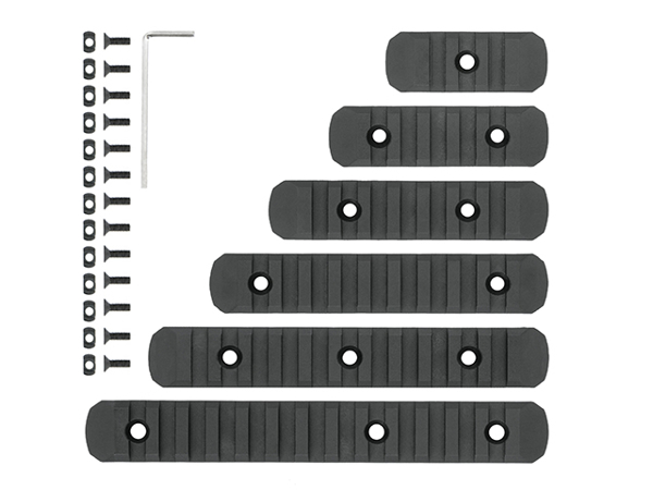 Picture of Keymod & M-LOK Rail Set 6-pack Black (MP)